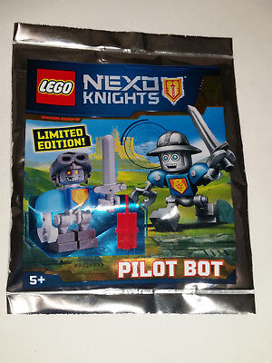 Lego Nexo Knights Pilot Bot Mini Figure Polybag