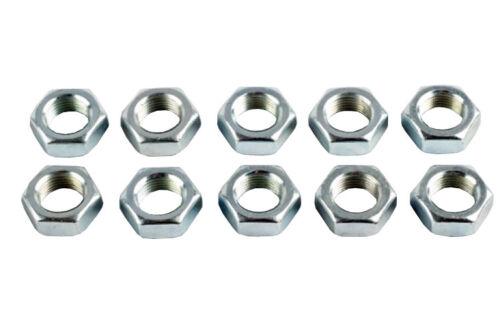 M12 X 1.75mm Links Gewinde- Halbmuttern,Ideal für Rosen Verbindungen - 10er Pack