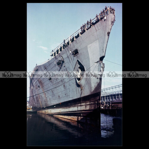#php.01294 Photo SS NORMANDIE CGT NEW YORK 1940/'S PAQUEBOT OCEAN LINER