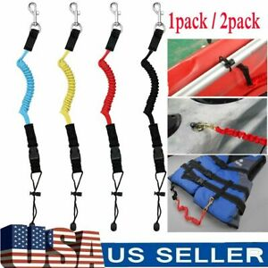 2 pack Kayak Paddle Fishing Leash Rope Rod Leash Safety Lanyard Boat Accessories
