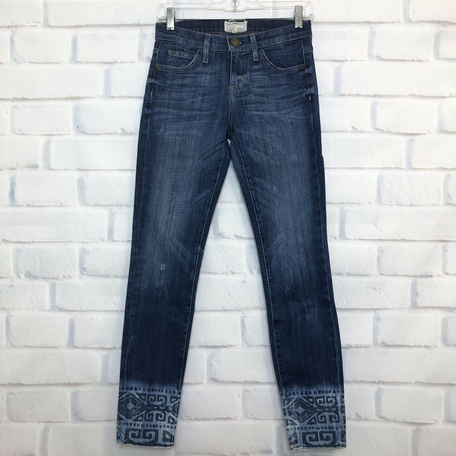Current Elliott Cut Off Stiletto Dakota Tribal Jeans Size 25
