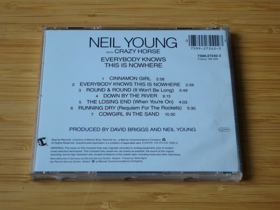 NEIL YOUNG WITH CRAZY HORSE : EVERYBODY KNOWS THIS IS