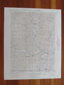 South Wayne Wisconsin 1950 Original Vintage Usgs Topo Map Ebay