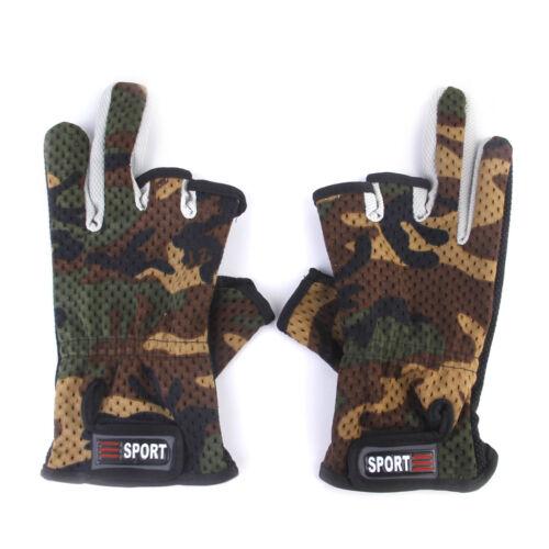 Neopren Handschuhe 3 Finger Anglerhandschuhe Camouflage