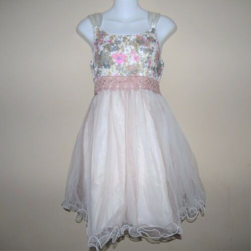 BONNIE JEAN IRIS /& IVY® Girls/' 12 Glitter Floral Dress NWT $68