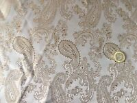 Paisley Jacquard Cream,2 Tone poly/viscose mix, (per metre) dress fabric, sewing