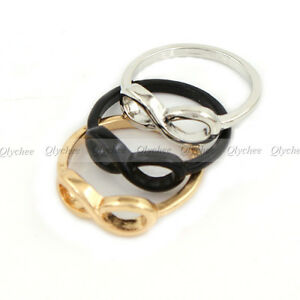 Fashion-Punk-Simple-Style-Metal-infinite-infinity-sign-Ring-size-6-e
