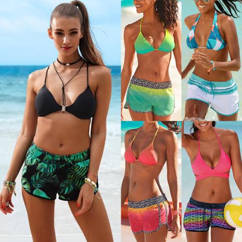 Damen Badeanzug Tankini Bikini Tops Boxershorts Hose Sommer Sport Strandkleidung
