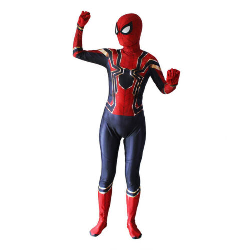 Kids Boys Child Spiderman Far From Home Cosplay Costume Party Jumpsuit Outfit UK
