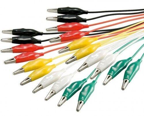 10x prüfschnur messleitung krokodilklemme krokoklemme kabel farbig bunt max 2,5a