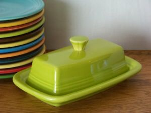 LEMONGRASS-Fiesta-Extra-Large-Covered-Butter-Dish-Set-1st-Quality