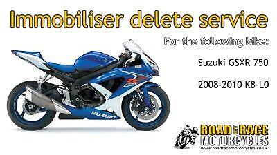 IMMOBILISER DELETE KEYLESS REMOVE BY ECU FLASH SUZUKI GSXR 750 K8-L0 2008 -  2010 | eBay