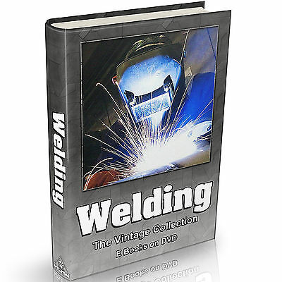 Welding Books on DVD Soldering Arc Slag Gas Torch Electric Welder Thermit