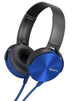 Sony MDR-XB450AP Xtra Bass NEW SEALED quality headphones BLUE