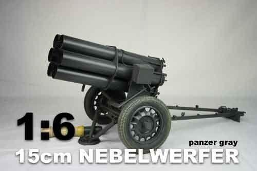 Hizo 1/6th Scale World War Two Nebelwerfer Panzar Gris (Metal)