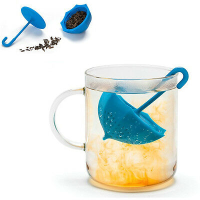 New Umbrella Tea Leaf Strainer Herbal Spice Infuser Filter Diffuser Kitchen Tool