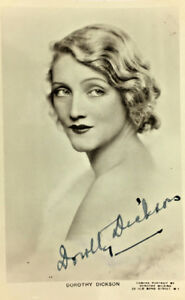 DOROTHY-DICKSON-ACTRESS-SIGNED-REAL-PHOTO-POSTCARD-RPPC-UNPOSTED