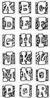 Inkadinkado Clear Stamp Animal Skins Alphabet & Numbers