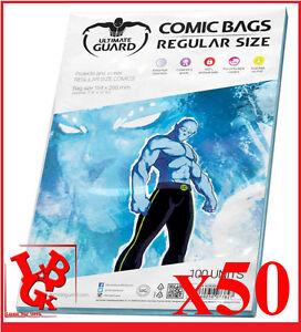 Pochettes-Protection-REGULAR-Size-comics-VO-x-50-Marvel-Ultimate-Bags-NEUF