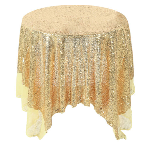 Sparkly Sequin Tablecloth Round Wedding Table Cover Cloth Banquet Party Decor