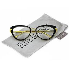 Elite Cat Eye Fashion Design Clear Lens Metal Frame Women Vintage Eye Glasses