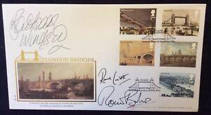 Buckingham-10-9-2002-London-Bridges-FDC-Signed-R-CORBETT-B-WINDSOR-amp-R-BARKER