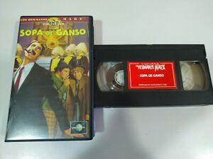 Los-Hermanos-Marx-Sopa-de-Ganso-Groucho-Harpo-Chico-VHS-Cinta-Tape