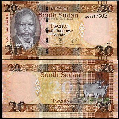 Sudan 20 Pounds p-74 2015 UNC Banknote