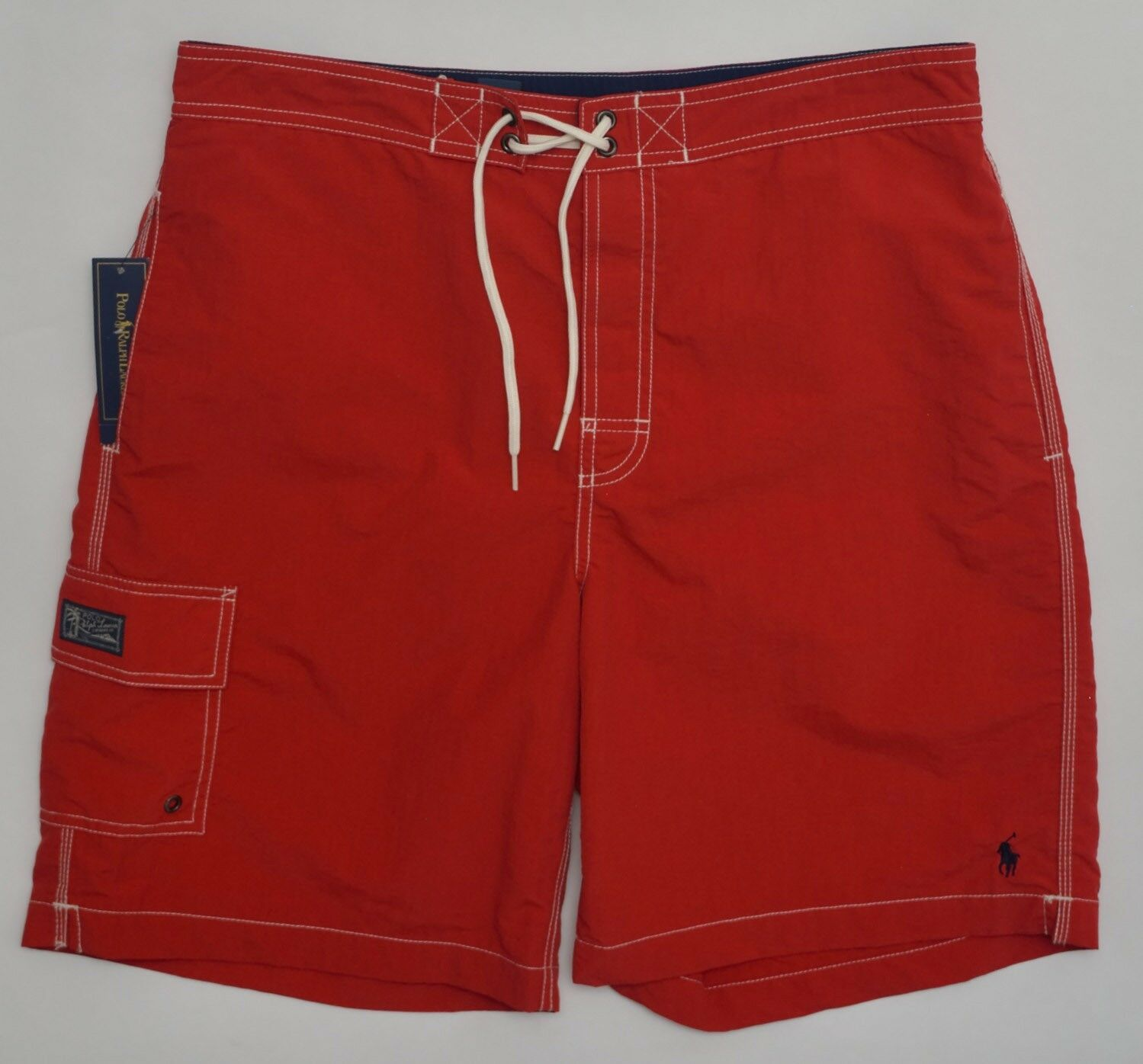 Men's POLO RALPH LAUREN Red Swimsuit Trunks L Large NWT NEW Nice  4177635