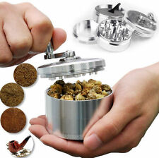 "Herb Grinder Crusher for Tobacco 4 Piece 2"" Zinc Hand Muller Spice Silver 4pc"