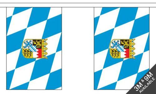 30 flag bunting Bavaria Crest 9 metre long