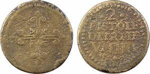 Italie-poids-monetaire-2-PISTOLES-D-039-ITALIE-V-D-IIII-33