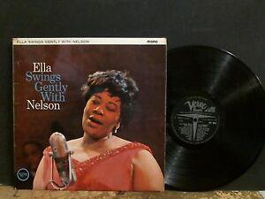 ELLA-FITZGERALD-Ella-Swings-Gently-With-Nelson-LP-Mono-UK-original-RARE