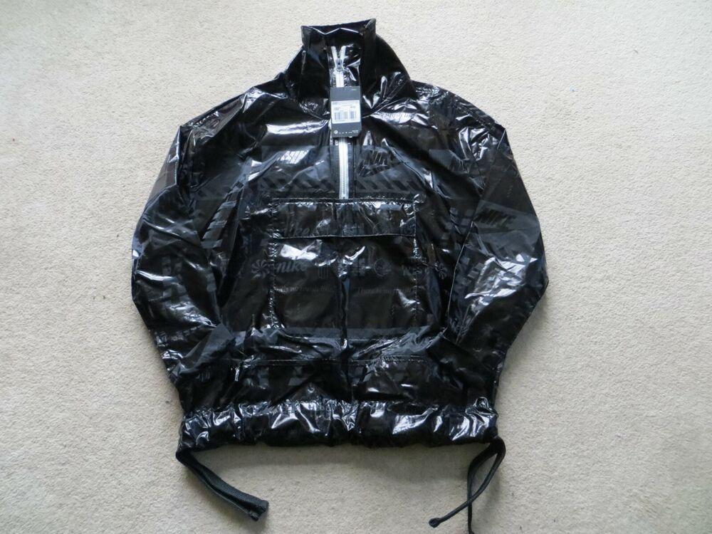 Nike Oversize Noir Grande Lettrage Pull Over Femme Taille Xs Neuf Avec étiquette