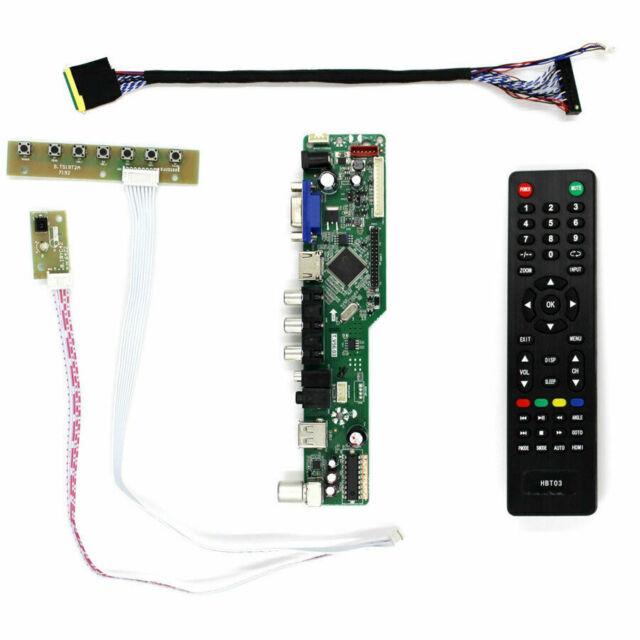TV+HDMI+VGA+AV+USB+AUDIO LCD Control Board For B156HW01 LP173WF1 1920x1080 LCD