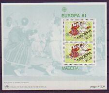 Portugal-Madeira postfrisch  Europa 1981   MiNr,  Block 2