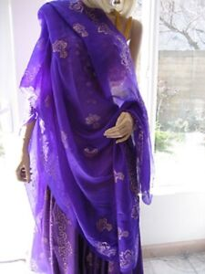 Belly-Dance-Cabaret-Skirt-and-SILK-Veil-Sets-with-Gold-or-Silver-Print-Designs
