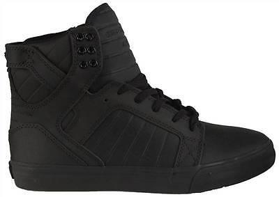Supra Mens High Top Sneakers Skytop Black S18187 Leather