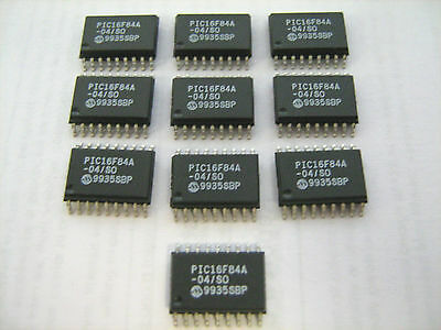 MICROCHIP TECH PIC16F84A-04//SO IC MCU 8Bit 1.75KB 18SOIC Lot of 10 Pcs NEW!!