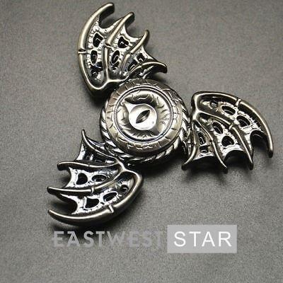 Two wings EDC Finger Hand Spinner Gyro Devil Eye Fidget Focus Autism bronze