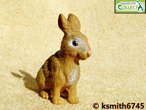 CollectA marrón Conejo de plástico sólido Juguete Animal Bosque Wild Zoo Mascota Nuevo