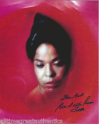 Rock & Pop Singer Della Reese Hand Signed Authentic 8x10 Photo W/coa Motown Actress Vivid And Great In Style