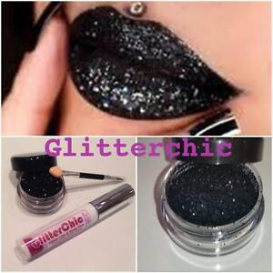 glitzer lippen schwarz hei lippenstift einzeln von glitterchic glamm 10g gro ebay. Black Bedroom Furniture Sets. Home Design Ideas