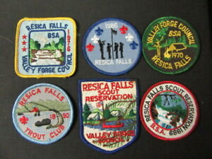 All Different Lot Of 10 MINT Older Boy Scout Resica Falls Scout Camp Patches