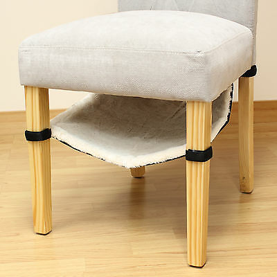Under Dining Chair/Table Leg Hanging Cat/Kitten Hammock Bed Fleece Lined Sheet