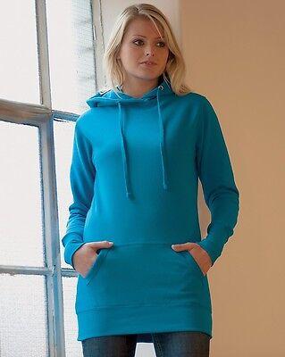 JH005 XS - XL WS Women AWDis Hoods Ladies Girlie Longline Fashion Hoodie