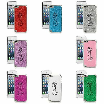 GLITTER Bling Apple iPod Touch 5th 6th Hard Case Cute Giraffe Cartoon