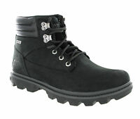 CAT Caterpillar Goldfield Black Waterproof Leather Mens Ankle Boots Size 6-12 UK