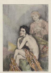 Ed-Chimot-litho-colorie-pochoir-1936-039-Dialogues-des-Courtisanes-039-Chamontin-2
