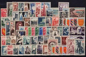 PP134221-FRANCE-LOT-1954-1955-MINT-MNH-CV-248